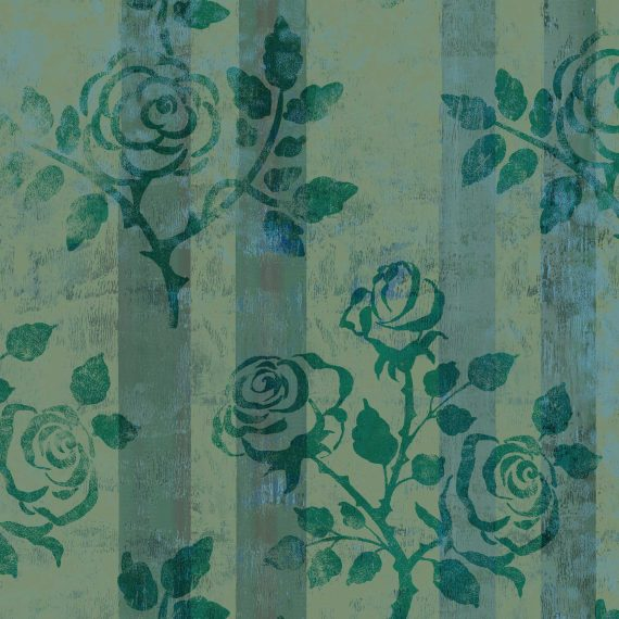 N&T: Green Stripe and Roses